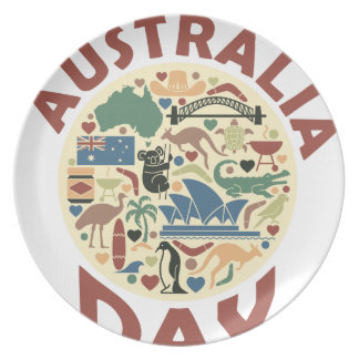 Australia Day- Appreciation Day Dinner Plate