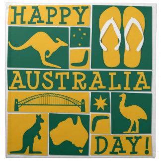Australia Day Cloth Napkin