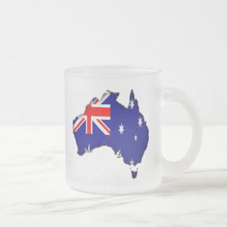 Australia Day Frosted Glass Mug