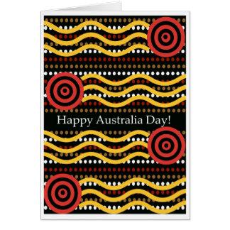 Australia Day Greeting Card, Aboriginal Dot Design Card