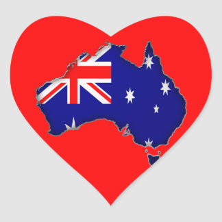 Australia Day Heart Sticker