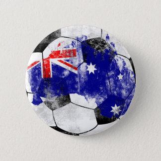 Australia Distressed Soccer 2 Inch Round Button