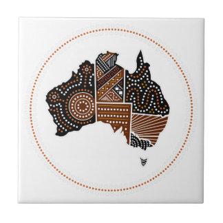Australia dotted map ceramic tile