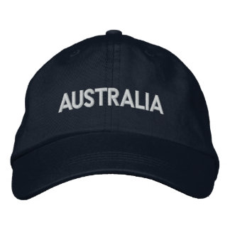 AUSTRALIA Downunder Patriotic Design Embroidered Hat