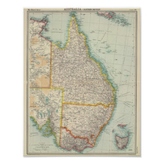 Australia eastern section poster