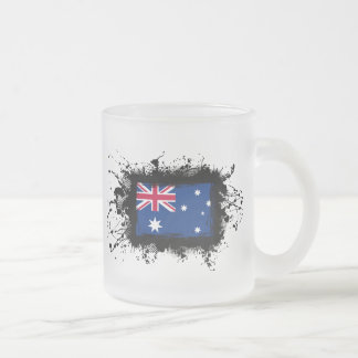 Australia Flag 10 Oz Frosted Glass Coffee Mug