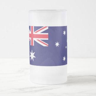 Australia Flag 16 Oz Frosted Glass Beer Mug