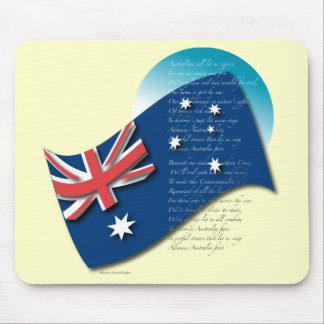 Australia Flag and Anthem 2 Mouse Pad