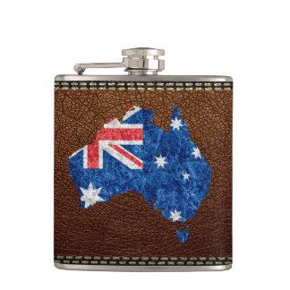 Australia Flag and Map Flasks