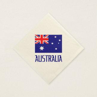 Australia Flag and Word Paper Napkins