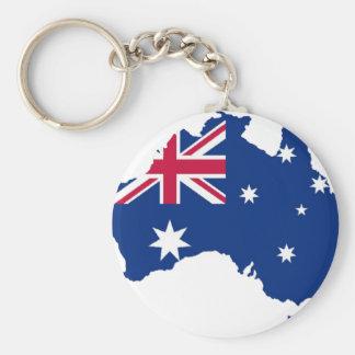 Australia flag Australia styles Design Basic Round Button Keychain