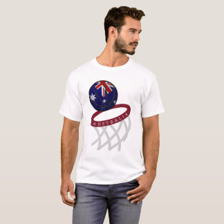 Australia Flag Basketball Hoop T-Shirt