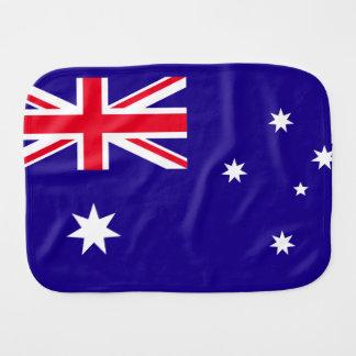 Australia Flag Burp Cloth