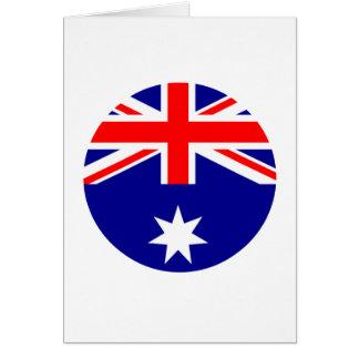 Australia Flag - Circle The MUSEUM Zazzle Card