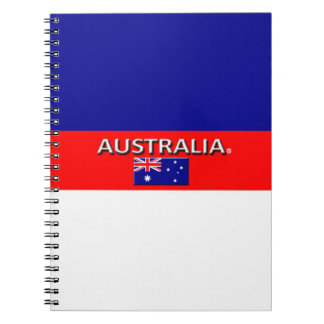 Australia Flag Colors Designer Modern Notebook