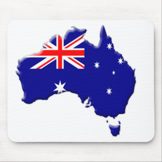 Australia-flag-country-bevelled-edge Mouse Pad