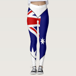 Australia Flag Heart Leggings