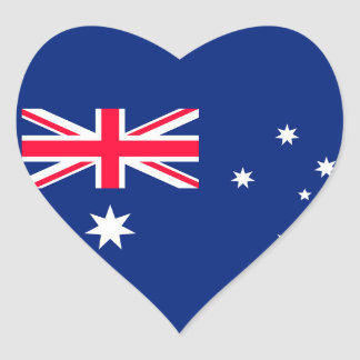 Australia flag image for Heart-Stickers-Glossy Heart Sticker