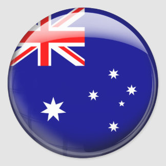 Australia Flag in Glass (pack) Stickers