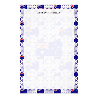 Australia Flag in Multiple Colorful Layers Stationery