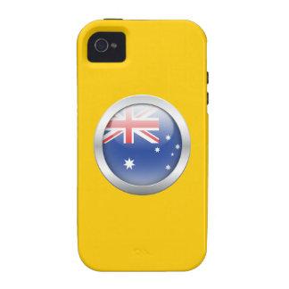 Australia Flag in Orb iPhone 4 Case