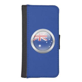 Australia Flag in Orb iPhone SE/5/5s Wallet Case
