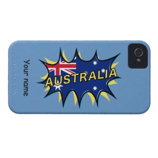 Australia Flag Kapow Comic Style Star iPhone 4 Case-Mate Cases