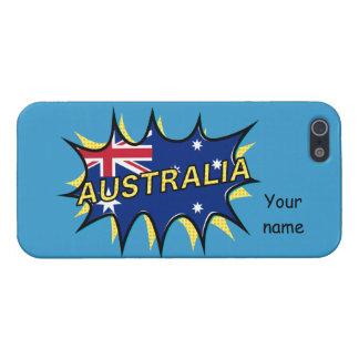 Australia Flag Kapow Comic Style Star Case For iPhone 5