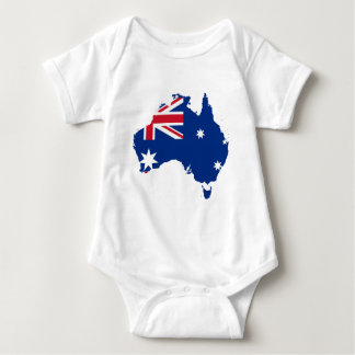 australia flag map baby bodysuit