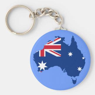 australia flag map basic round button keychain