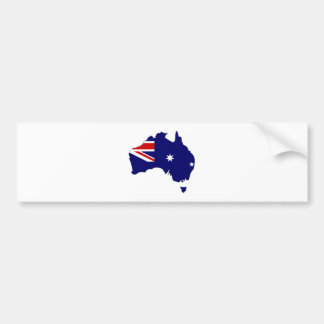 Australia Flag Map full size Bumper Sticker
