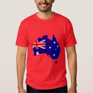 Australia Flag Map T-shirts
