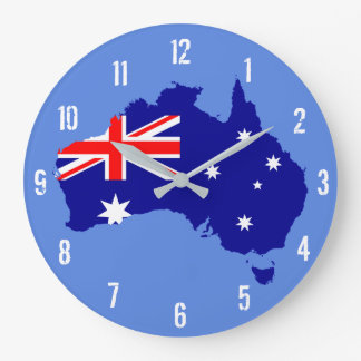 Australia Flag Map Wall Clock