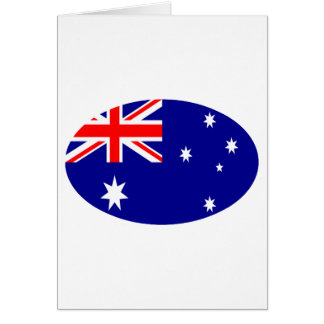 Australia Flag Oval The MUSEUM Zazzle Gifts Card