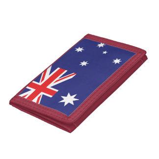 Australia flag trifold wallet