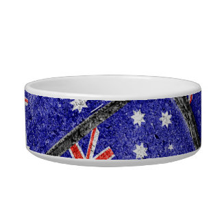 Australia Flag Urban Grunge Pattern Bowl
