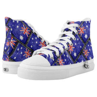 Australia Flag Urban Grunge Pattern High Tops