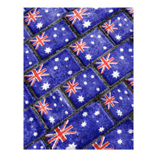 Australia Flag Urban Grunge Pattern Letterhead
