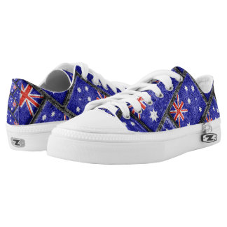 Australia Flag Urban Grunge Pattern Low-Top Sneakers