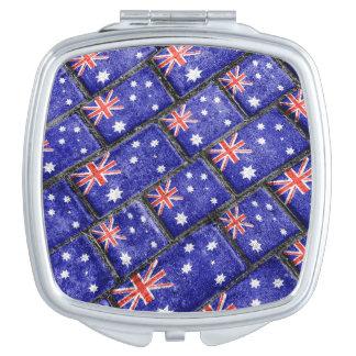 Australia Flag Urban Grunge Pattern Mirror For Makeup