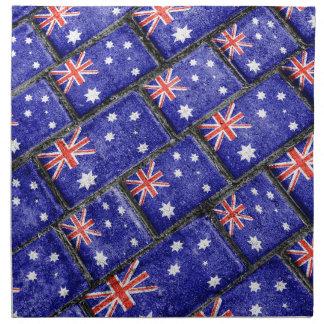 Australia Flag Urban Grunge Pattern Napkins