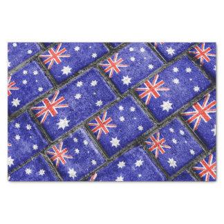 Australia Flag Urban Grunge Pattern Tissue Paper