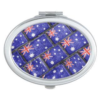 Australia Flag Urban Grunge Pattern Vanity Mirrors
