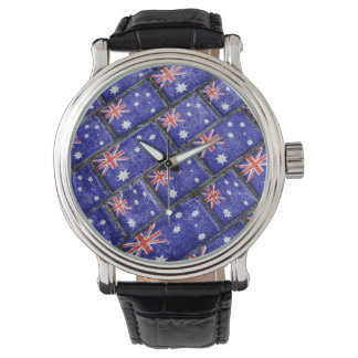 Australia Flag Urban Grunge Pattern Watch