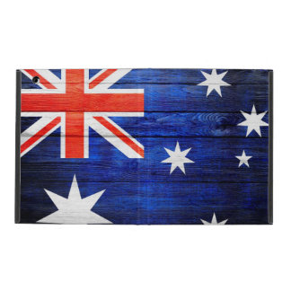 Australia Flag Vintage Wood Covers For iPad