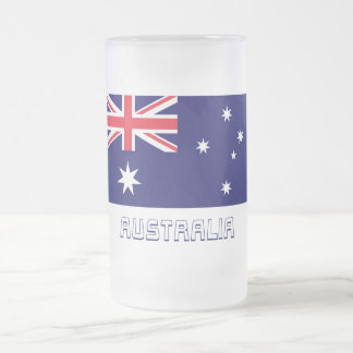 Australia Flag with Name Mugs