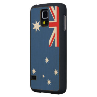 Australia Flag Carved® Maple Galaxy S5 Slim Case