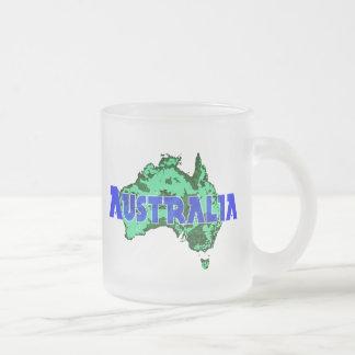 Australia Frosted Glass Coffee Mug