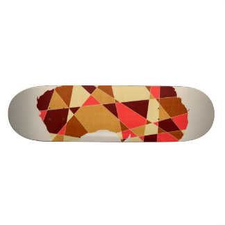 Australia Geometric Retro Map Custom Skateboard