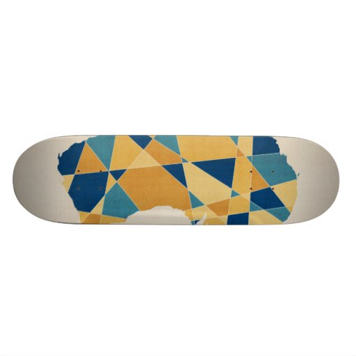 Australia Geometric Retro Map Skateboard